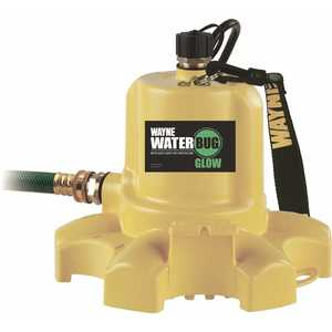 WAYNE Water Systems WWB Glow 0.16 HP WaterBUG Glow Auto Off Submersible Utility Pump with Multi-Flo Technology
