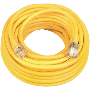 Southwire 17890002-XCP3 100 ft. 10/3 SJEOW Outdoor Heavy-Duty T-Prene Extension Cord with Power Light Plug Yellow - pack of 3
