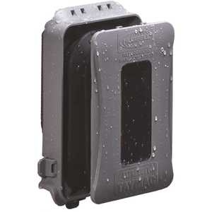 TAYMAC ML500GB 1-Gang Horizontal/Vertical Mount Weatherproof Expandable Low Profile Extra Duty In-Use Cover