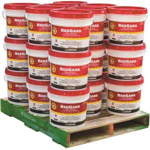 Custom Building Products LQWAF3-24 RedGard 3-1/2 Gal. Waterproofing and Crack Prevention Membrane (24 Buckets / pallet)