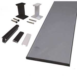 Peak Aluminum Railing 50713 6 in. Tinted Glass Panel Kit