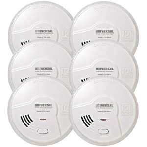 Universal Security Instruments Inc MI3050SB-6P 2-in-1 Smoke Detector and Fire Smart Alarm with 10-Year Sealed Battery