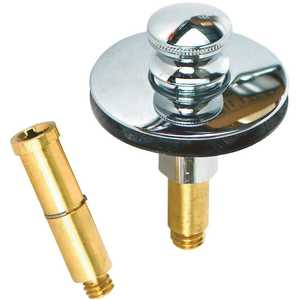 Watco 38516-CP Push Pull Bathtub Stopper with 3/8 in. to 5/16 in. Pin Adapter in Chrome Plated