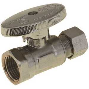 Durapro NLT1331SRF 1/4 Turn Straight Stop, 3/8 in. IPS x 3/8 in. Compression, Lead Free