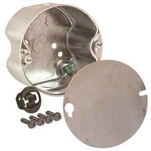 RACO 299 4 in. Round Ceiling Rated Box 2-1/8 in. Deep with Five 1/2 in. KO's