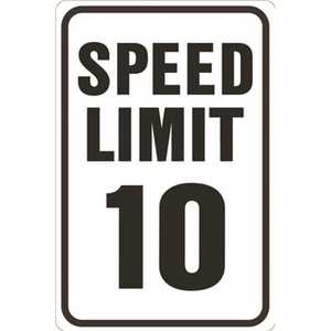 HY-KO PRODUCTS HW-10HDR 12 in. x 18 in. Speed Limit 10 MPH Heavy-Duty Reflective Sign