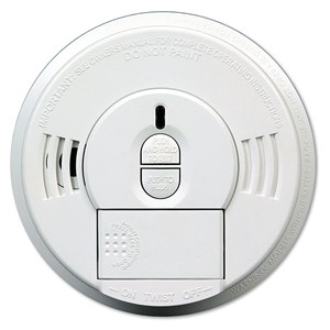 Kidde KID09769997 Front-Load Smoke Alarm w/Mounting Bracket, Hush Feature