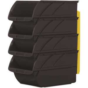 Stanley 057304R 5.9 in. Stackable & Mountable Storage Bins with Wall Hangers