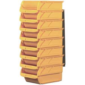 Stanley 057208R 4-1/10 in. Stackable & Mountable Storage Bins with Wall Hangers