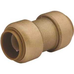 Cash Acme U009LF 1/2 in. x 3/8 in. Brass Push-to-Connect Reducer Coupling