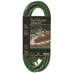 Southwire 160001 20 ft. 16/3 SJTW Outdoor Light-Duty Extension Cord Green
