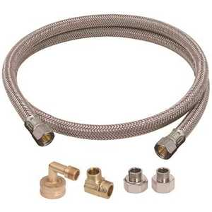 BrassCraft B1U-72DW612 D Universal Dishwasher Installation Kit Includes One 3/8 in. Compression Inlet x 3/8 in. Compression Outlet