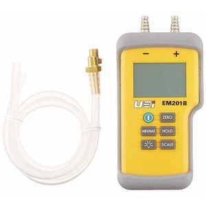 UEI TEST INSTRUMENTS EM201B-N Dual Input Differential Manometer NIST Calibrated