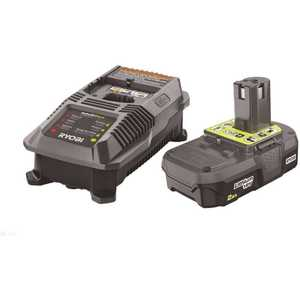 RYOBI P163 18-Volt ONE+ Lithium-Ion 2.0 Ah Battery and Dual Chemistry IntelliPort Charger Kit