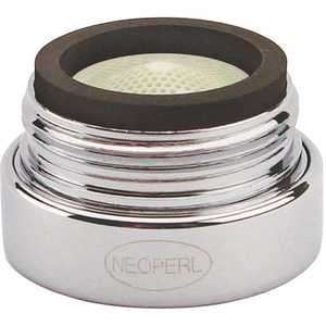 NEOPERL 5414305 PCA Spray 0.5 GPM 13/16 in. -27 Junior Male Vandal Proof Faucet Aerator Chrome Lime green/Chrome