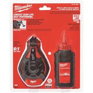 Milwaukee 48-22-3986 100 ft. Bold Line Chalk Reel Kit with Red Chalk