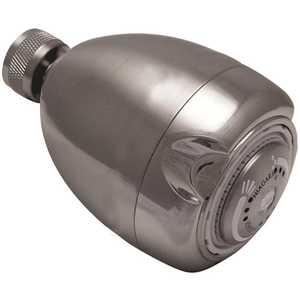 NIAGARA N2915BN 3-Spray 2.7 in. Single Wall Mount Low Flow Fixed Adjustable Shower Head in Brushed Nickel