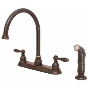 Premier 3585653 Muir 2-Handle High Arc Kitchen Faucet with Sprayer in Oil Rub Bronze
