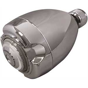 NIAGARA N2912CH 3-Spray 2.7 in. Single Wall Mount Low Flow Fixed Adjustable Shower Head in Chrome