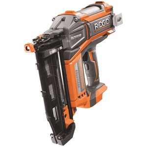 RIDGID R09892B 18-Volt Cordless Brushless HYPERDRIVE 16-Gauge 2-1/2 in. Straight Finish Nailer(Tool Only), Belt Clip, Bag, Sample Nails