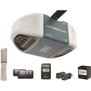 Chamberlain B970 1-1/4 HP Equivalent Ultra-Quiet Belt Drive Smart Garage Door Opener with Battery Backup