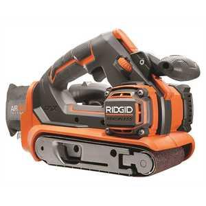 RIDGID R86065B 18-Volt GEN5X Cordless Brushless 3 in. x 18 in. Belt Sander (Tool Only) with Dust Bag and (1) 80 Grit Sanding Belt
