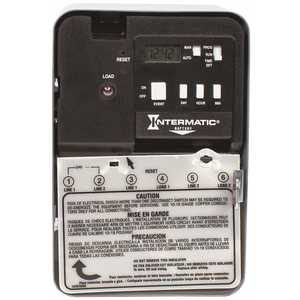 Intermatic EH10 EH Series 30 Amp 120-Volt SPST 7-Day Indoor Electronic Water Heater Time Switch Gray/Metal