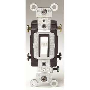 Leviton CS220-2W 20 Amp 120/277-Volt 2-Pole Commercial Grade AC Quiet Toggle Switch, White