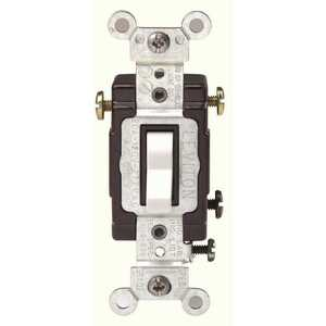 Leviton CS320-2W 20 Amp 120/277-Volt 3-Way Commercial Grade AC Quiet Toggle Switch, White