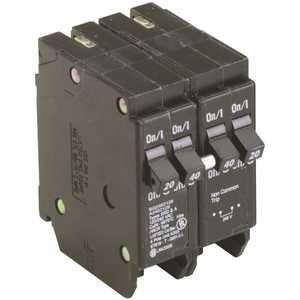 Eaton BQ2402120 BR 1-40 Amp 2 Pole and 2-20 Amp 1 Pole BQ (Independent Trip) Quad Circuit Breaker