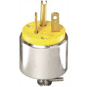 Leviton 620PA 20-Amp 250-Volt Commercial Grade Straight Blade Male Plug In Yellow