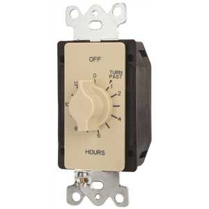 Tork A512H 125-277-Volt 12-Hour SPDT Indoor Spring Wound Mechanical Twist Timer, Ivory