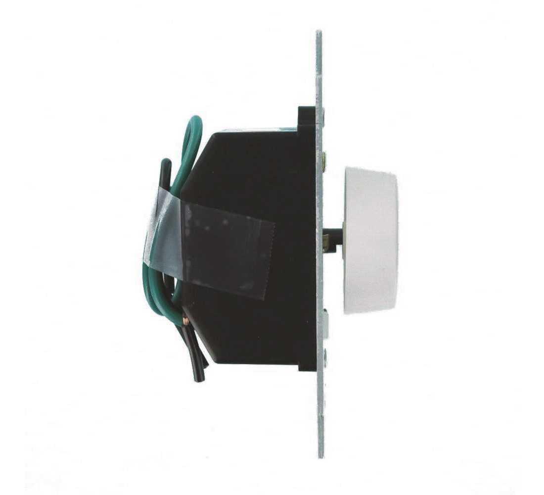 Single Pole Leviton 6627-1I SureSlide 5A Full Range Fan Speed Control Ivory