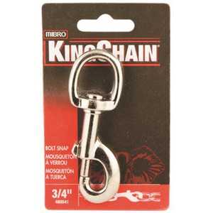 KingChain 480541 2-3/8 in. Galvanized Steel Spring Link Security Snap, 132 lbs. Safe Work Load
