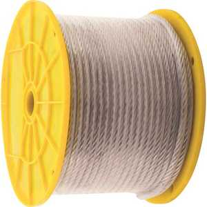 KingChain 505202 1/8 in. x 3/16 in. x 250 ft. Vinyl-Coated Galvanized Aircraft Cable, 7x7 Construction - 340 lbs Safe Work Load - Reeled