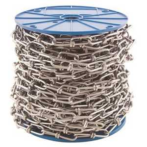 KingChain 527351 #3/0 in. x 100 ft. Zinc-Plated Tenso Chain