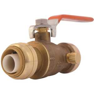 SharkBite 22305-0000LF 3/4 in. Push-to-Connect Brass Ball Valve with Drain