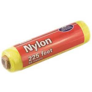 KingCord 300211BG #18 x 225 ft. Neon Twisted Nylon Mason's Line, Yellow