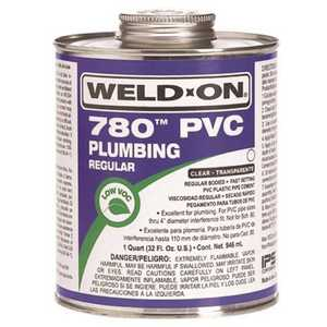 IPS Corporation 14001 Weld On 780 Regular-Bodied PVC Cement, Clear, Quart