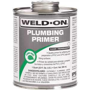 IPS Corporation 14030 Weld On PVC / cPVC Primer, Clear, Quart