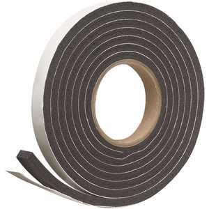 Frost King R534H 3/4 in. x 5/16 in. x 10 ft. Black Rubber Foam Weatherseal Tape