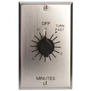 Tork C515M In-Wall Spring Wound 15-Minute Indoor Commercial Grade Mechanical Interval Timer Switch Silver