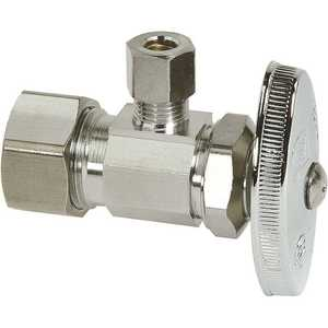 BrassCraft OCR09X C 1/2 in. Nominal Compression Inlet x 1/4 in. O.D. Compression Outlet Multi-Turn Brass Angle stop