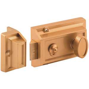 Legend 804160-BNT 1-1/4 in. Brass Night Latch and Locking Cylinder Bore Diecast Painted