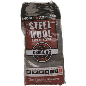 Homax 10121113 #3 12 Pad Steel Wool, Coarse Grade