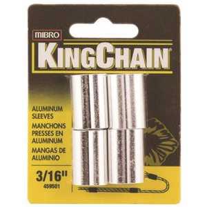MIBRO 459501 3/16 in. Cable Ferrule in Aluminum - pack of 4