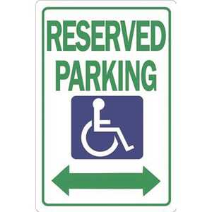 HY-KO PRODUCTS HW-32HD 12 in. x 18 in. Reserved Parking Heavy-Duty Sign