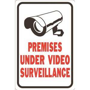 HY-KO PRODUCTS HW-201 12 in. x 18 in. These Premises Protected by Video Surveillance Sign
