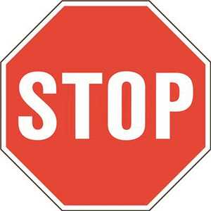 HY-KO PRODUCTS HW-65 24 in. Stop Sign