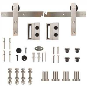 Everbilt 14455 72 in. Stainless Steel Sliding Barn Door Track and Hardware Kit